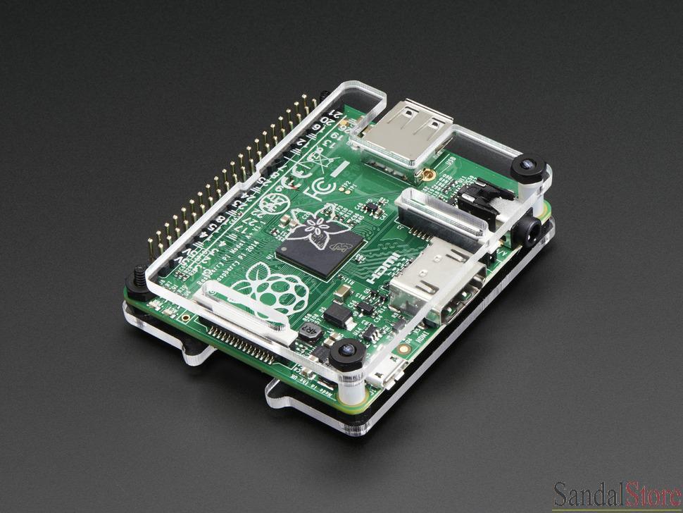 树莓派 model a  主机板及外壳 7 ports usb hub 含外部电源 microsd